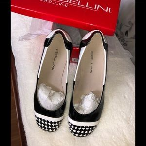 Bellini Black/White Flats